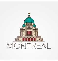 Saint joseph oratory in montreal canada modern vector