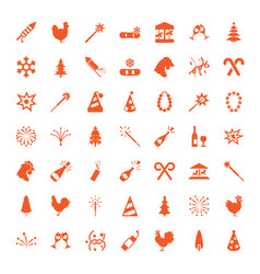 49 year icons vector image