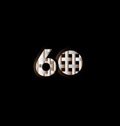 60 years anniversary celebration elegant black vector