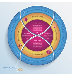 Abstract design circle infographic with four segme vector image