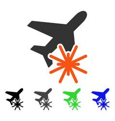 Aiplane explosion flat icon vector