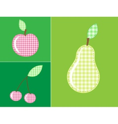 applique fruits and berries vector image
