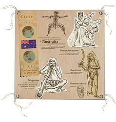 Australia - Pictures of Life Aboriginals vector