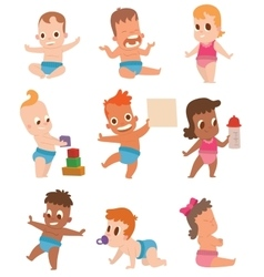 Baby kids vector image