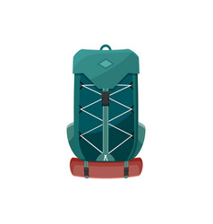 Backpack icon camping or hiking rucksack vector