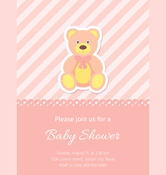 bashower card design birthday template invite vector image