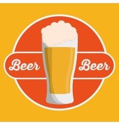 Beer glass drink design vector image