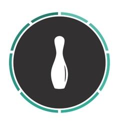 Bowling pin computer symbol vector