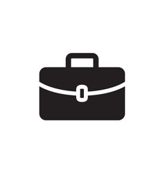 briefcase icon in flat style for apps ui websites vector image
