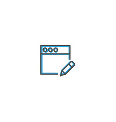 browser icon design interaction icon line vector image