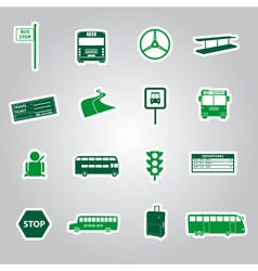 bus transport stickers eps10 vector image