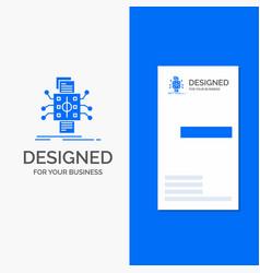 Business logo for analysis data datum processing vector