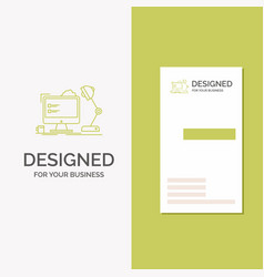 Business logo for workplace workstation office vector