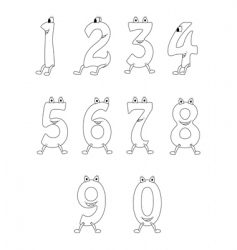 cartoon numbers vector image