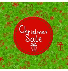 Christmas Sale Tags on christmas signs vector image