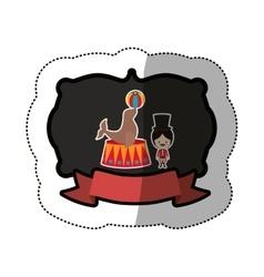 Circus tamer cartoon vector