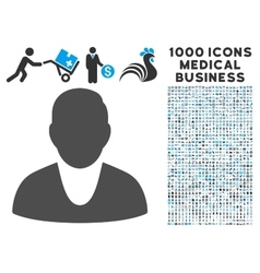 Client Icon with 1000 Medical Business Symbols vector image