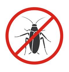 Cockroach iconblack icon isolated vector