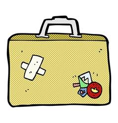 Comic cartoon luggage vector