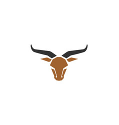 Creative bull head abstract logo vector