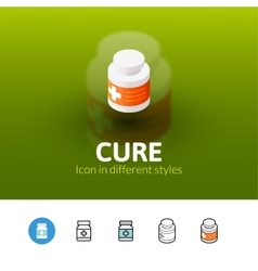 Cure icon in different style vector