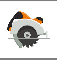 design of manual circular saw vector image