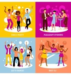 Disco Party Concept Icons Set vector