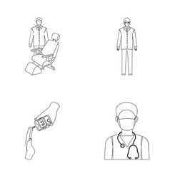 doctor in a face mask dentist medical staff a vector image