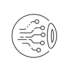 Eye circuit icon ai concept vector