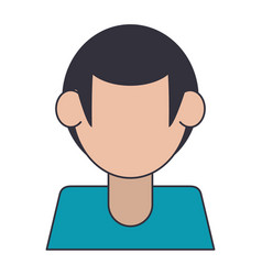 Faceless man avatar profile isolated vector