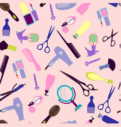 Fashion woman accessory proffessional tools vector