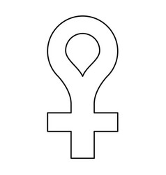Female gender symbol icon thin line vector