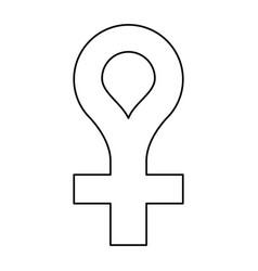 Female gender symbol icon thin line vector