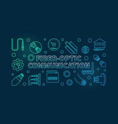 Fiber-optic communication colored linear vector