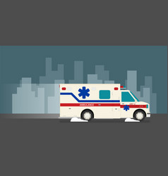 flat ambulance car vector image