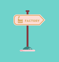 flat icon on background sign factory vector image