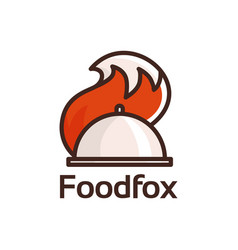 food fox logo vector image
