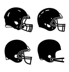 Football helmet sport icon symbols vector