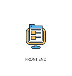 Front end concept 2 colored line icon simple vector