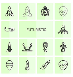 Futuristic icons vector
