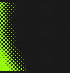 green abstract halftone dot pattern background vector image
