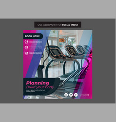 Gym flyer for social media post and stories vector