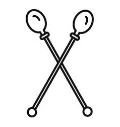 gymnastics sticks icon outline style vector image
