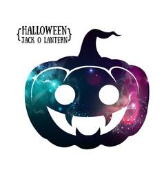 halloween pumpkin jack o lantern silhouette vector image