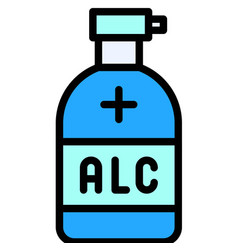 Hand sanitizer filled style icon vector