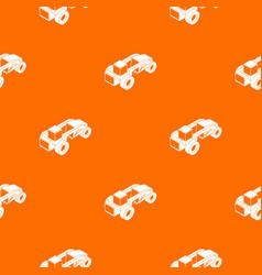 Heavy load truck pattern orange vector