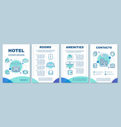 Hotel information brochure template layout vector