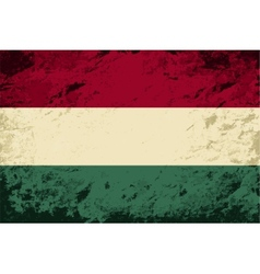 Hungarian flag Grunge background vector image