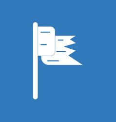 Icon flag silhouette vector