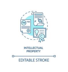 Intellectual property concept icon vector